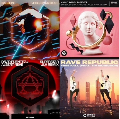 Castion - Voices In My Head; Chico Rose & 71 Digits - Somebody's Watching Me; David Puentez & Albert Neve - Superstar; Malarkey & Sofus Wiene  - What I Say;  Rave Republic feat. Tim Morrison - Free Fall (Club Mix) [2020]