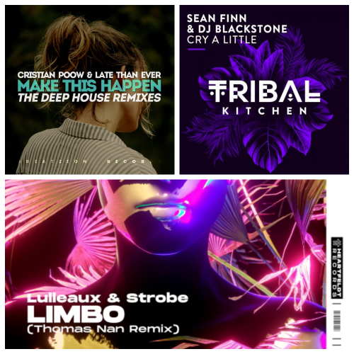 DJ Blackstone, Sean Finn Feat. Liz - Cry A Little (Original Mix); Lulleaux & Strobe - Limbo (Thomas Nan Extended Remix); Cristian Poow & Late Than Ever - Make This Happen (Vetlove Remix) [2020]
